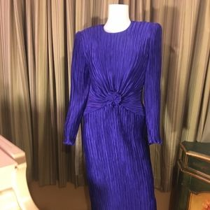 Vintage George F. Purple Couture Dress| Size 8
